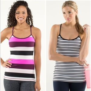 LULULEMON Bundle Power Y Tank Stripes set
